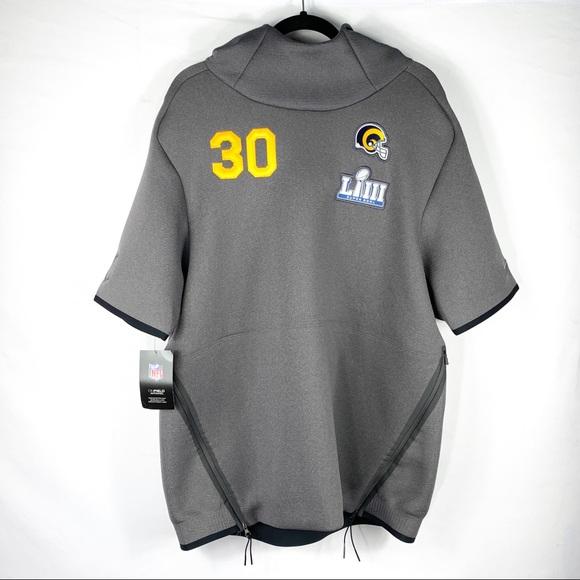 best service 913a7 3433c Nike Super Bowl LIII Therma Hoodie Sz Large NWT
